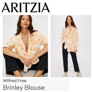 WILFRED FREE   Brinley Blouse Aritzia Sz Small